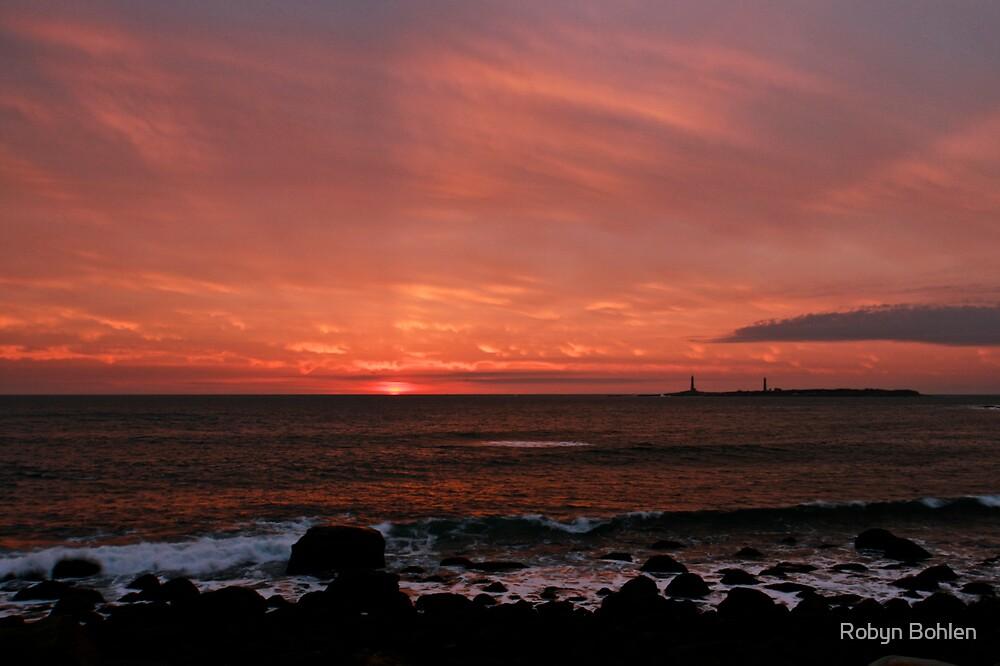 Atlantic Sunrise by Thatchers Island by Robyn Bohlen