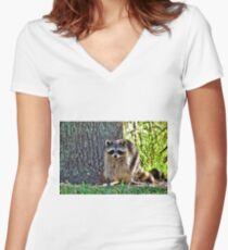 Raccoon 1 - Florida Women's Fitted V-Neck T-Shirt