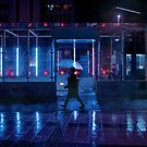 Neo Tokyo - Walking in the rain by Guillaume Marcotte