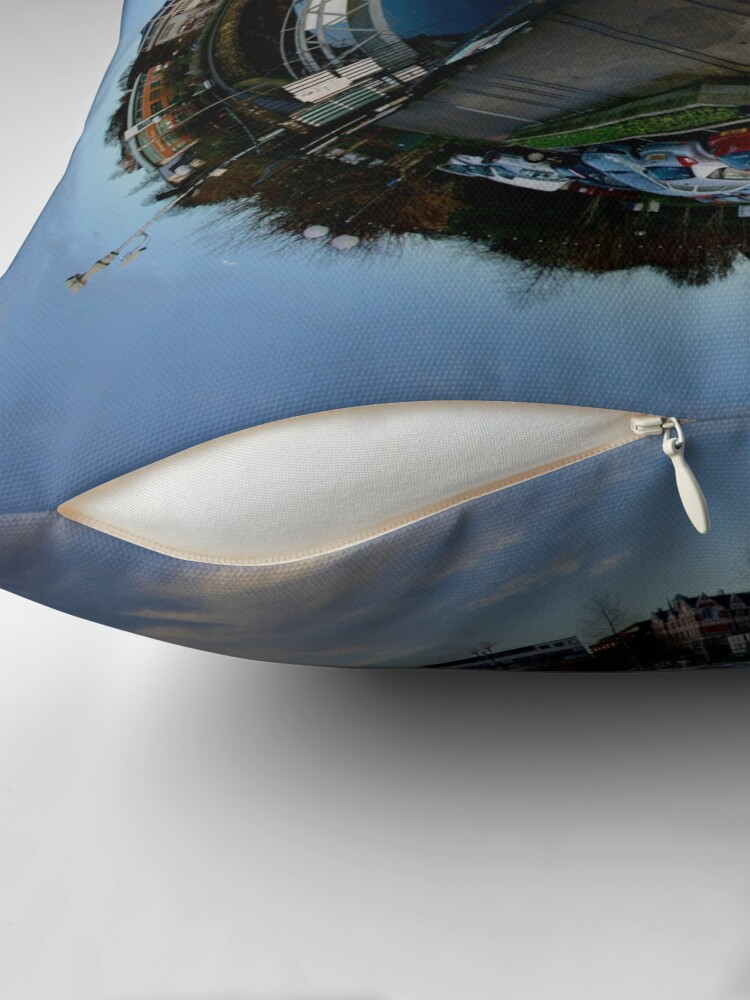 Alternate view of Foyle Marina at Dawn, Stereographic Floor Pillow