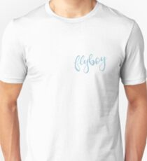Flyboy Blue Cursive Unisex T-Shirt
