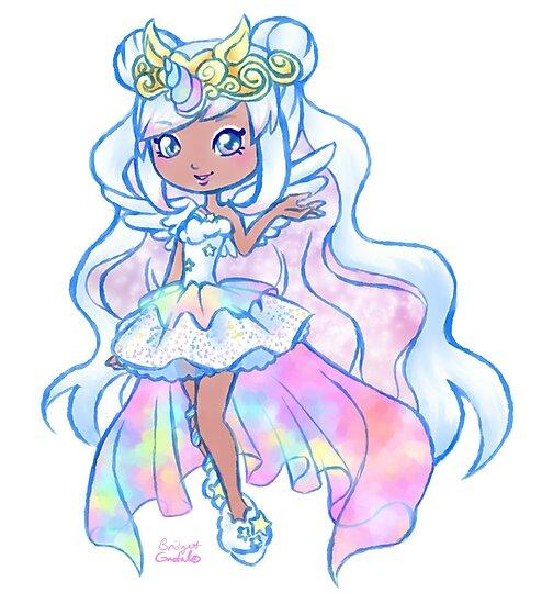 Awesome Cute Kawaii Unicorn Mystabella Shopkins Shoppies Doll Anime Fan Art By  BonBonBunny