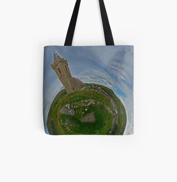 Glencolmcille Church - Sky Out All Over Print Tote Bag
