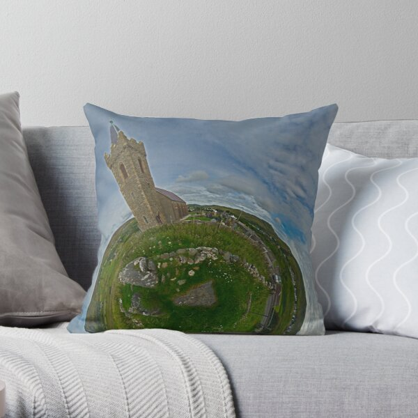 Glencolmcille Church - Sky Out Throw Pillow