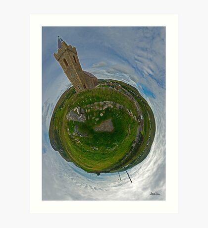 Glencolmcille Church - Sky Out Art Print