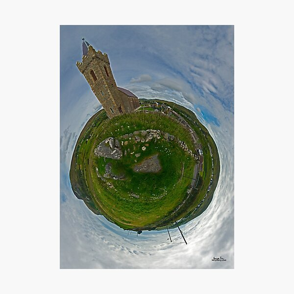 Glencolmcille Church - Sky Out Photographic Print