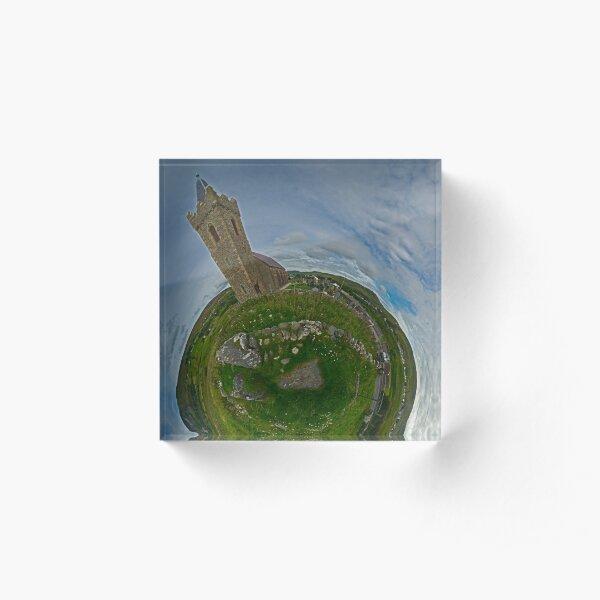 Glencolmcille Church - Sky Out Acrylic Block