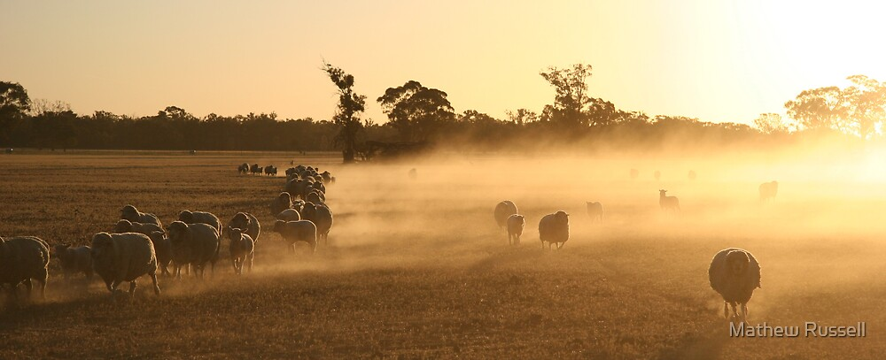 The Mob coming in... by Mathew Russell