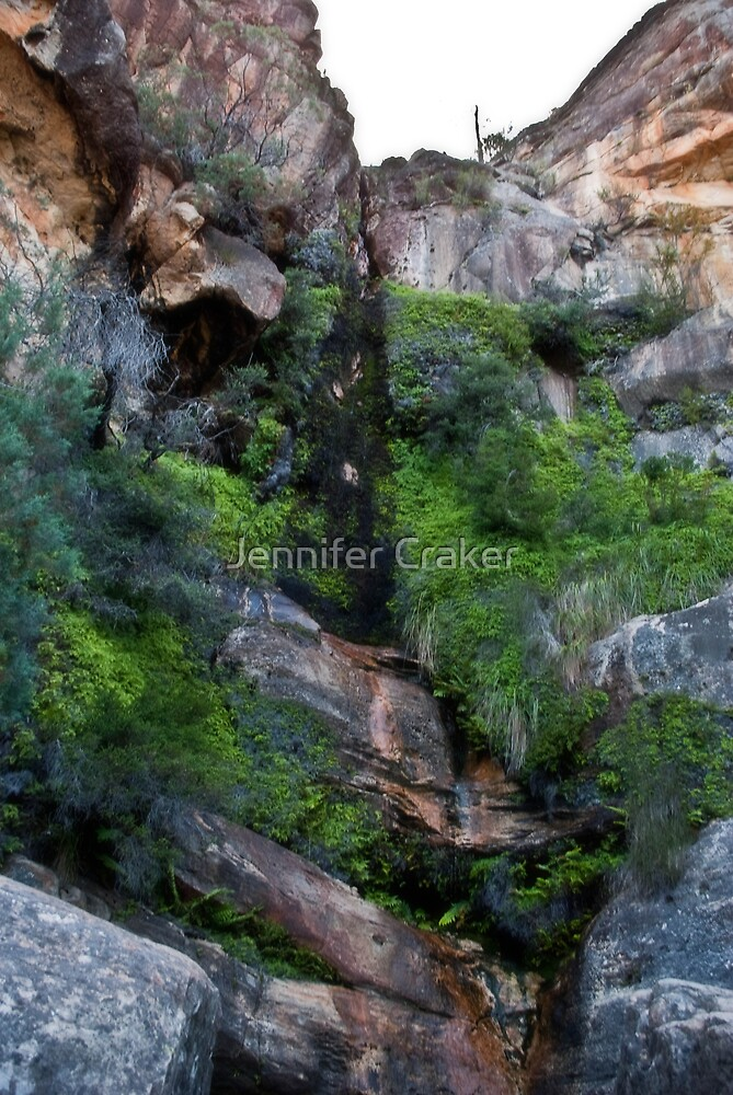 Full view of the Beehive Falls by Jennifer Craker