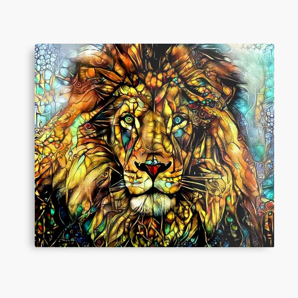 Jungle King by Dream Garden Graphics Metal Print