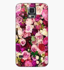 Designer mit Blumen Hülle & Klebefolie für Samsung Galaxy