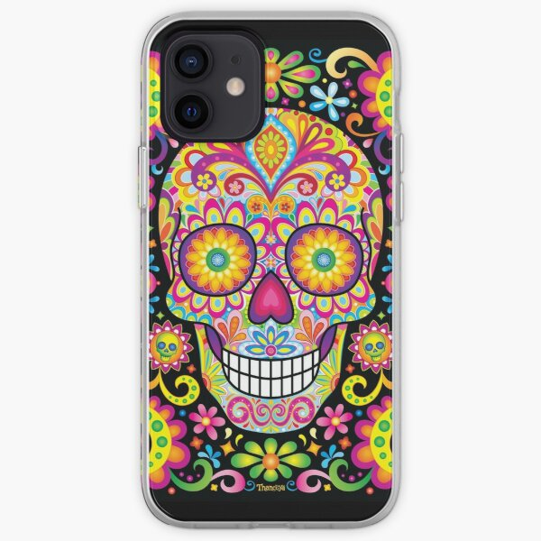 Sugar Skull Day of the Dead Art (Spark) iPhone Soft Case
