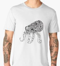 Abstract Octopus Floating in the Ether Men's Premium T-Shirt