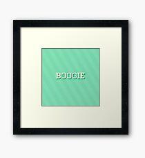 Boogie Framed Print