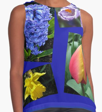 The Sweetness of Spring Floral Collage Ärmelloses Top