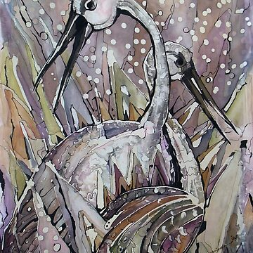 IBISES, The Love dance of Ibises by DeyanaDeco