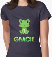 Gracie Frog Women's Fitted T-Shirt