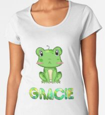 Gracie Frog Women's Premium T-Shirt