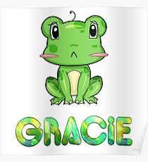 Gracie Frog Poster