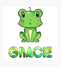 Gracie Frog Photographic Print