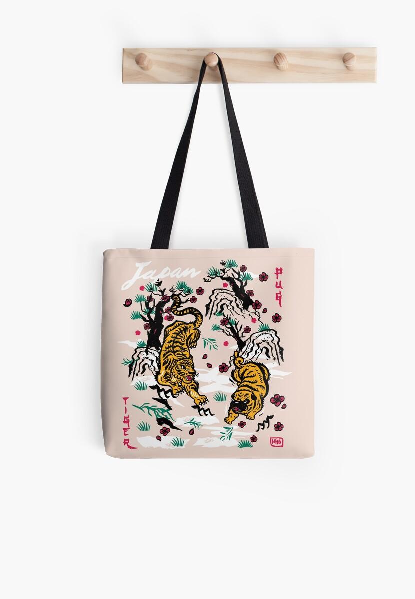 Tiger and Pug Japanese style by nokhookdesign