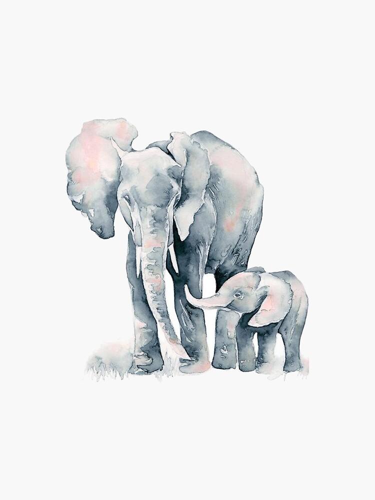 Elefante acuarela de Gaell