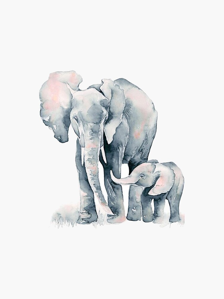 Elephant Watercolor  by Gaell