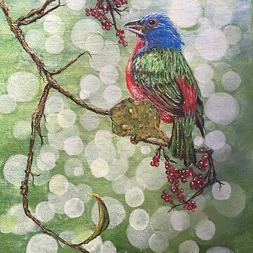 Painted Bunting by ArtbyDedeConrad