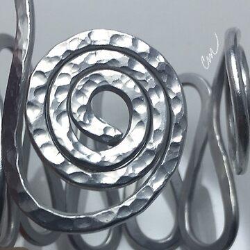 Silver Swirl Cuff  by Camillemeola