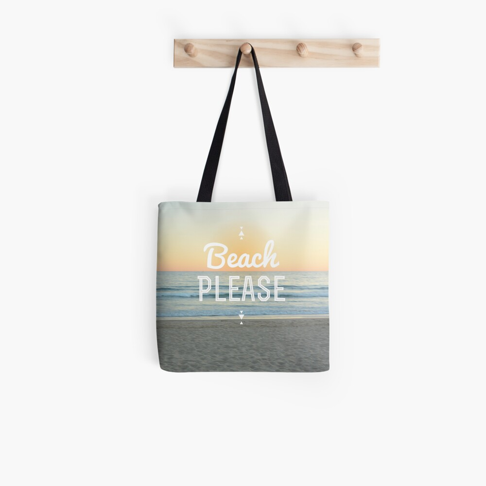 ¡Playa por favor! Bolsa de tela