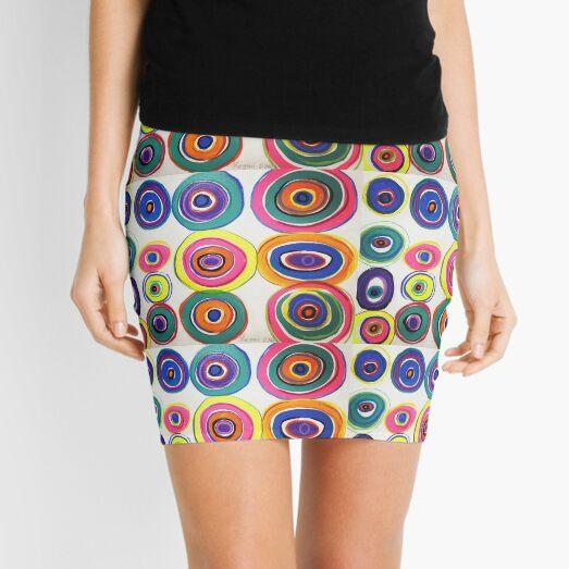 Rainbow Vinyl Mini Skirt