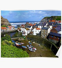 """Staithes, North Yorkshire"" Poster"