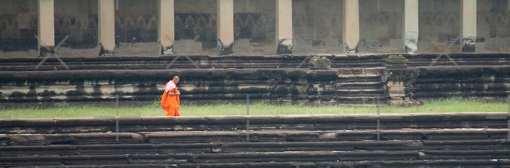 Monk at Angkor Wat by Adrianne Yzerman