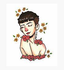 mitch - flower baby Photographic Print