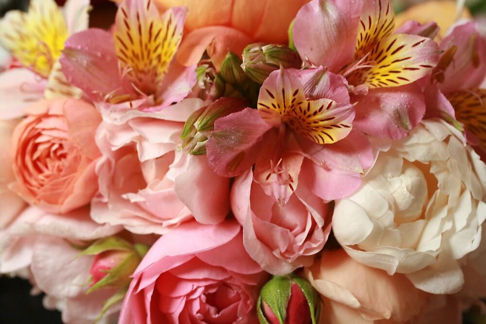 Roses & alstromeria bouquet by JulesVandermaat