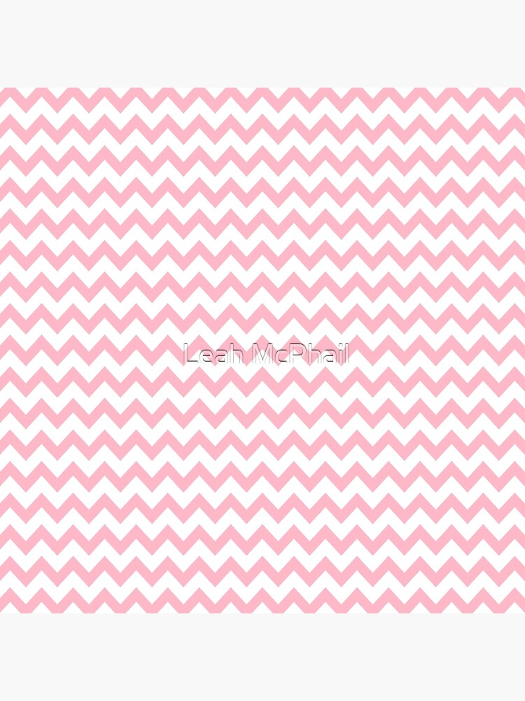 Pink and White Chevron Stripes by LeahMcPhail