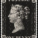 The Penny Black Postage Stamp by NaturePrints