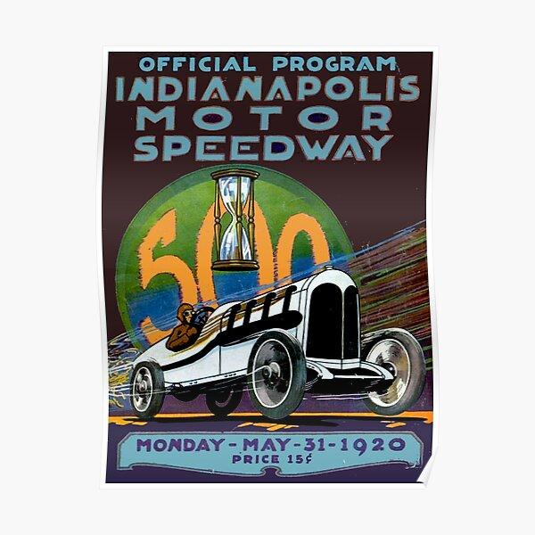 1909 Indianapolis Motor Speedway Vintage Automobile Motor Car Poster