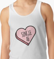 Single AF | Funny Valentine's Candy Heart Tank Top