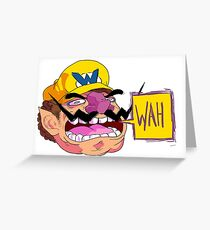 WAH (Wario) Greeting Card