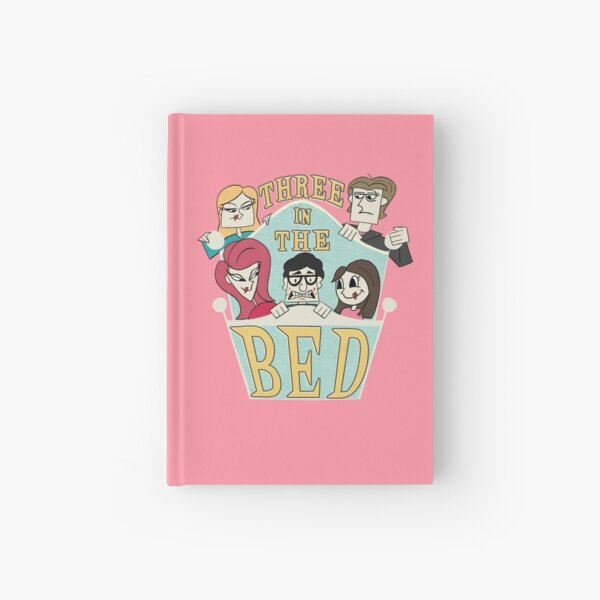 Three in the Bed Hardcover Journal