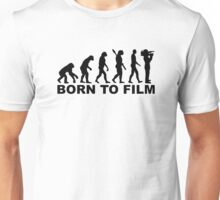 Evolution Born to film Unisex T-Shirt