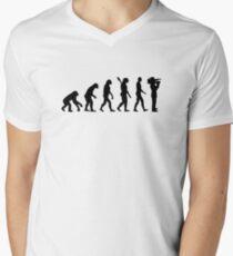 Evolution Cameraman Men's V-Neck T-Shirt