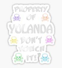 Property of Yolanda Sticker