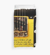 Bruce Springsteen Song Tribute Drive All Night Duvet Cover