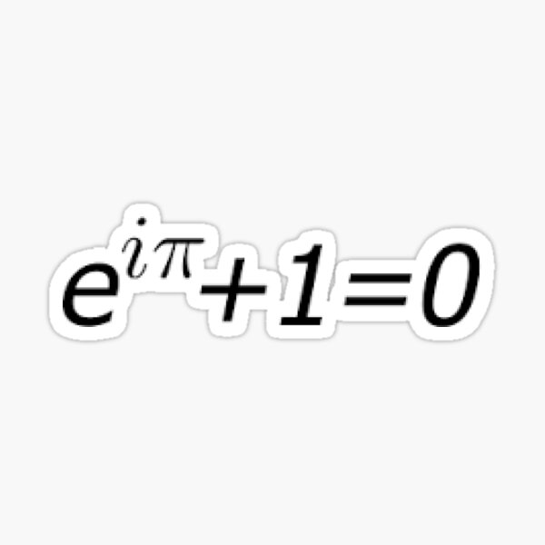 Euler's Identity, Math, Mathematics, Science, formula, equation, #Euler's #Identity Sticker