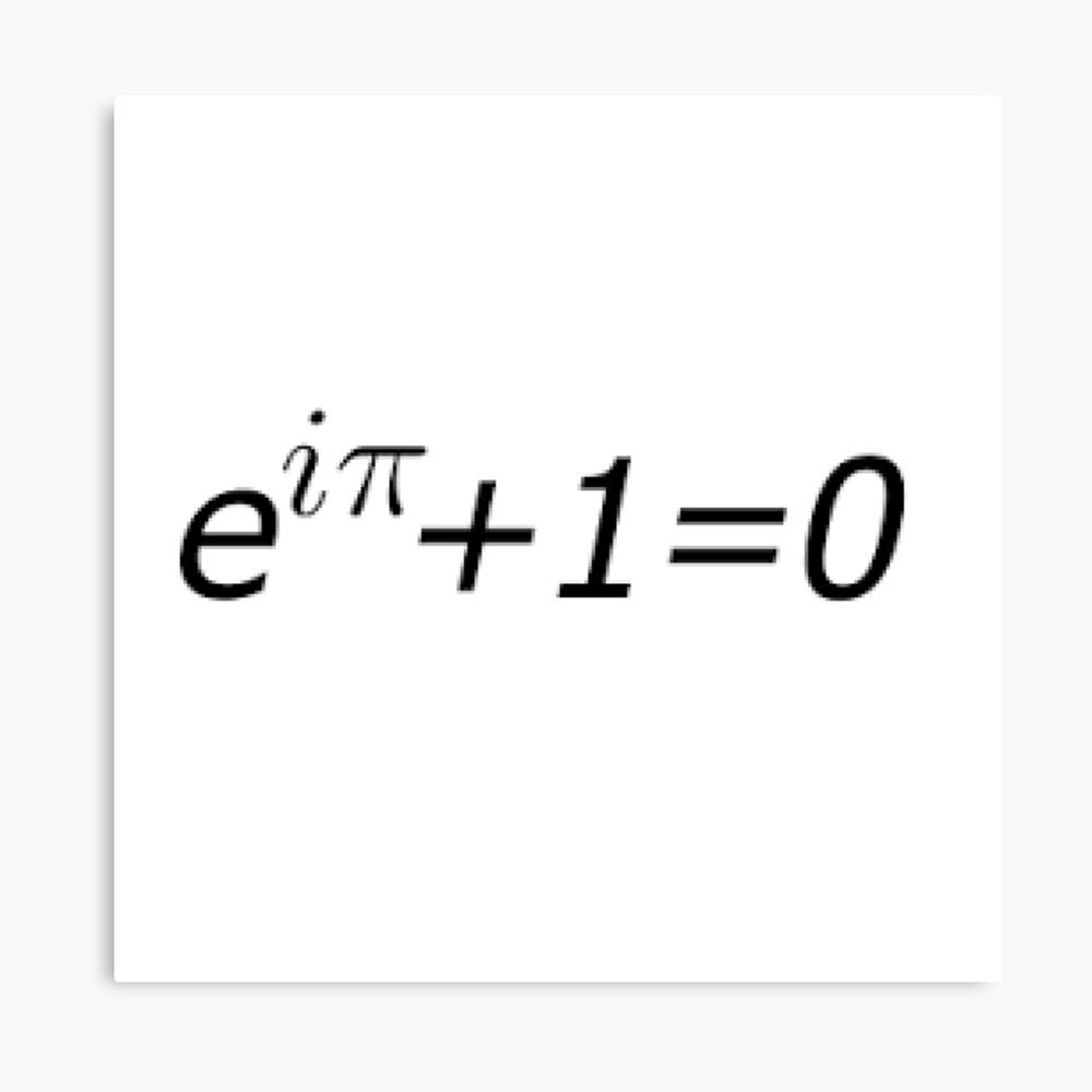 Euler's Identity, Math, Mathematics, Science, formula, equation, #Euler's #Identity Canvas Print