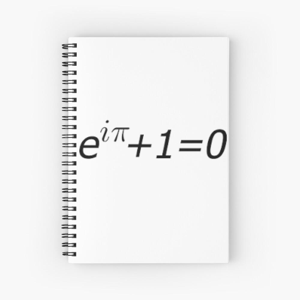 Euler's Identity, Math, Mathematics, Science, formula, equation, #Euler's #Identity Spiral Notebook