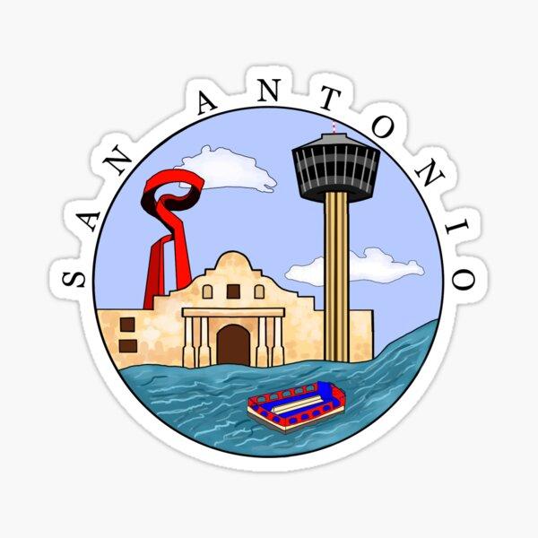 San Antonio design Sticker