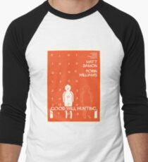 Good Will Hunting Saul Bass Style Men's Baseball ¾ T-Shirt